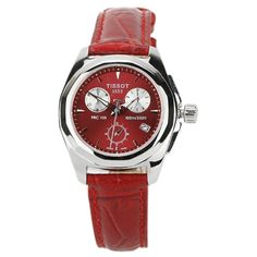 T008.217.16.111.01 Tissot T-SPORT PRC100 Red Leather Womens Watch Price $200