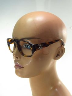 be540568f6a Chanel Faux Tortoise CC Logo Sunglass Frames with Case - Italy    Chanel  Vintage Sunglasses