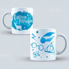 Harry Potter Expresso Patronum Ceramic Coffee Tea Mug Harry Potter Navidad, Harry Potter Magic, Harry Potter Christmas, Ravenclaw, Christmas Stocking Fillers, Tea Mugs, Coffee Mugs, Fantastic Beasts, The Hobbit
