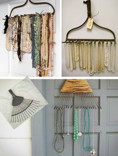 DIY Inspiration: Accessories Storage by Style Copycat Diy Jewelry Hanger, Jewelry Rack, Jewelry Stand, Jewelry Holder, Jewlery, Diy And Crafts, Arts And Crafts, Bead Organization, Hanging Necklaces