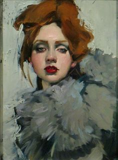 Malcom T. Liepke: title unknown [girl in gray-collared coat].