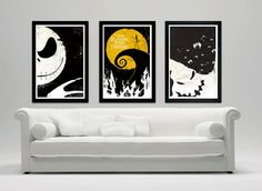 This WILL be in my future home! LD Nightmare Before Christmas poster set - tim burton- Jack- ghost- Jack Skellington, Tim Burton, Nightmare Before Christmas, Halloween Decorations, Christmas Decorations, Jack The Pumpkin King, Jack And Sally, Art Plastique, My New Room