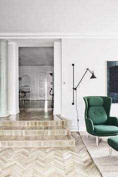 light legs and deep green color with neutrals around