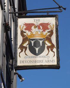 Pub Sign Art a la cARTe: The Devonshire Arms, Kentish Town Road, London NW1...