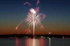 FIreworks on Conneaut Lake, PA