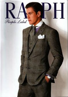 Influence of Edwardian male in 2000s fashion - Raplh Lauren Fall 2012