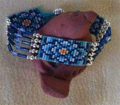 Instant download! Split Loom Style Latvian Flowers Bracelet