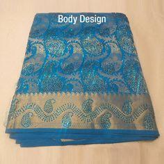 $1,158.49     Colour: Blue self jacquard with 1,00,000 stone works  Material: Kanchipuram pure silk  Zari: Half fine