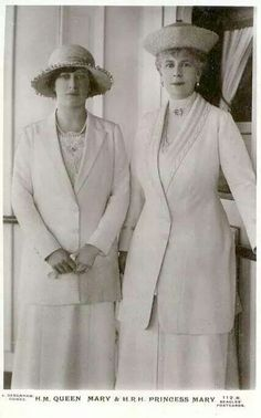 Queen Mary of Great Britain with Princess Mary of Great Britain.A♥W