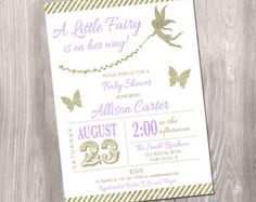 Fairy Baby Shower Invitation Enchanted Floral Baby Shower Invitation