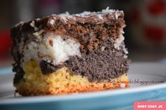 Ciasto 4 w 1 Cake Cookies, Cupcakes, Polish Recipes, Banana Bread, Muffin, Food And Drink, Cooking Recipes, Sweets, Meals