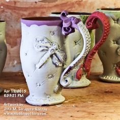 Layering on some colors. Next comes the sanding. :) #instaart #teacups #instalike #instadaily #inspiration #clay #cups #ceramic #lamaisoncréole #ceramicart #onlylouisiana #tea #pottery #coffee #photooftheday #art #thecreolehouse #artist #artoftheday #330daysofmud #330dayproject #330daychallenge #louisiana #nola #batonrouge  #livingstonparish #louisianalovemugs #creolepottery #creoleart #gifts