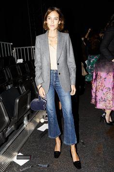 Pin for Later: De Nombreuses Célébrités Se Sont Rendues à Londres Pour la Deuxième Semaine du Mois de la Mode Alexa Chung Au défilé Erdem.