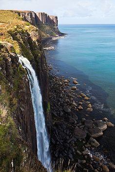~ Kilt Rock Waterfall, Near Portree, Isle of Skye, Scotland.