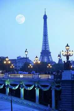 Eiffel Tower At Moonrise