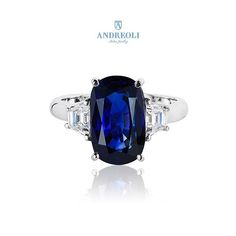 Andreoli Sapphire and Diamond Ring