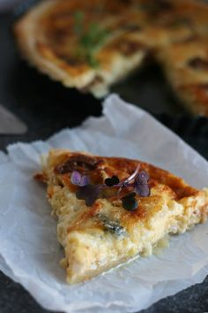 Luie hartige taart met blauwe kaas & gedroogde vijgen   Yellow lemon tree