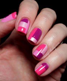 Diseños de Uñas con bloques de colores - A probarlo ! - Manicure