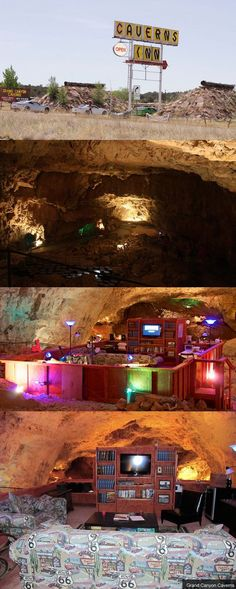 Stuck in the middle of the Arizona desert between the famous Route 66 towns of Seligman and Kingman, AZ is one of the very best kept secrets along the Mother Road… the Grand Canyon Caverns!