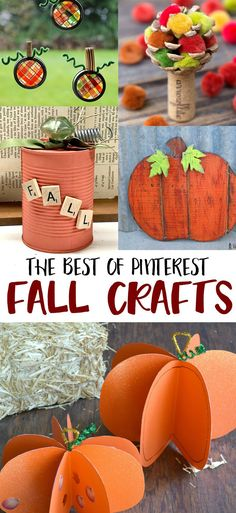 DIY Fall Crafts - the best fall craft ideas from around Pinterest!