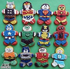 superhero gingerbread