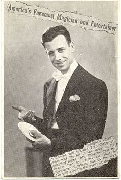 """Tom Osborne, magician   In 1917 and 1918 he had two television programs """"Magic Made Easy"""" and """"Black Magic"""" in Philadelphia, possibly becoming the first magician to appear on TV in that area. Max Holden  called him """"one of the greatest showmen in magic"""". Tom contributed many articles and Hocus Pocus Parades to the Linking Ring Magazine. Today, Tom is known for his version of the Three-To-One Rope, invented by Carlyle (Lyle Laughlin) and for a now vintage booklet on Cups and Balls."""