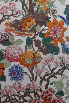 GP & J Baker's 'Magnolia' fabric - simply stunning fabric!