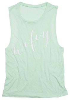 Must have for the beach!! Wifey tank in #mint http://rstyle.me/n/grhsmnyg6
