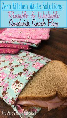 Zero Kitchen Waste: Sandwich Bags