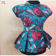 Attire Ankara Tops 25 Types - Moms Type Tops Tops Asian Impressed Residence Adorning There are only African Fashion Ankara, Latest African Fashion Dresses, African Print Fashion, African Wear, African Attire, African Outfits, Short African Dresses, African Blouses, African Tops