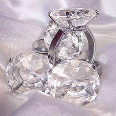 krystal diamant servietring og brevpresser