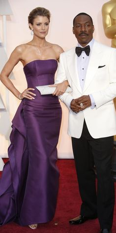 #oscarfashion FEBRUARY 22, 2015 Eddie Murphy and Paige Butcher.  Noel West for The New York Times