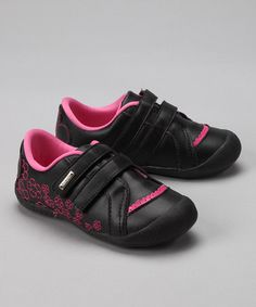 Take a look at this Black & Pink Floral Sneaker by Blow-Out on #zulily today! #fall