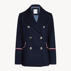 Le caban Tommy Hilfiger Tommy Hilfiger, Mannequins, Marie Claire, Jackets, Fashion, Army Look, Mantle, Jacket, Fashion Styles