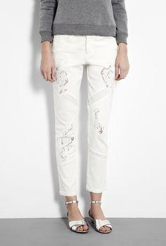 Cutwork Denim Jeans