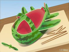 Image:Carve a Watermelon Airplane Step 4.jpg