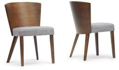 Wholesale Interiors SPARROW DINING CHAIR-109/690 Sparrow Brown Wood Modern Dining Chair - Set of 2