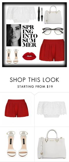 """""""sorry I have not been active"""" by tryn11 ❤ liked on Polyvore featuring Ally Fashion, Miguelina, Forever New, MICHAEL Michael Kors and Lancôme"""