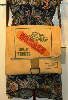 Vintage Dekalb corn seed sack upcycled by LoriesBags on Etsy