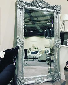 It's a beauty! Our gorgeous 7ft plus ornate mirror was £550, Now £350 in our winter sale. Gold & silver available, limited stocks. #catchthemwhileyoucan
