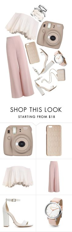"""Pinky nudes"" by ehionah on Polyvore featuring Fujifilm, Dagmar, Zimmermann, Schutz, Kayu and Gucci"