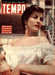 """Greek movie star Irene Papas: """"At the Cannes Film Festival"""" (17th May 1952)."""