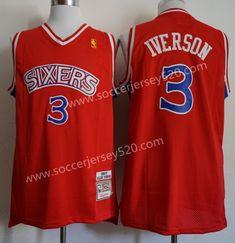 1e75a68db Philadelphia 76ers  3 Retro Red NBA Jersey