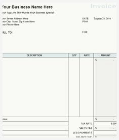 48 Inspirational Bill Of Service Template Image Invoice Template Word Invoice Template Invoice Example