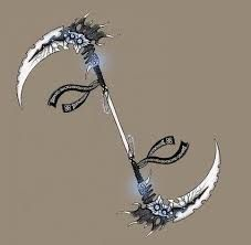 "[New Entry:Melee Weapon] ""Scype"" – katana Espada Anime, Pretty Knives, Armas Ninja, Ninja Weapons, Sword Design, Weapon Concept Art, Fashion Design Drawings, Knives And Swords, Anime Outfits"