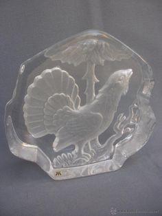Placa escultorica en vidrio tallado noruego ( vendido,sold)