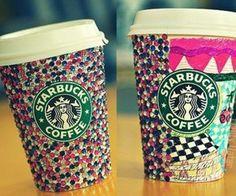 coffee, glitter, ladylily, starbucks - inspiring picture on Favim.com