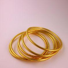 tout neuf 2ba20 65c58 Bracelet jonc de temple fin bouddhiste feuille d'or et ...