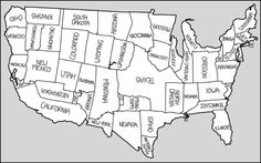 Usa States Map Black And White.Printable Map Of Usa With States Names Also Comes In Color But