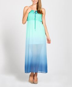 Look at this Mint Ombré Maxi Dress on #zulily today!